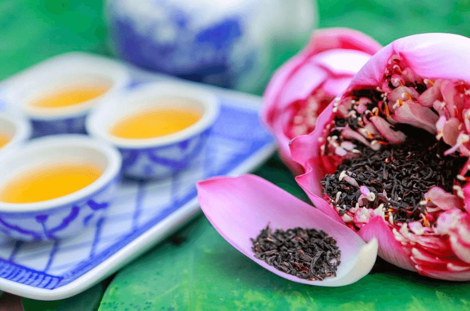 Công dụng của trà hoa sen