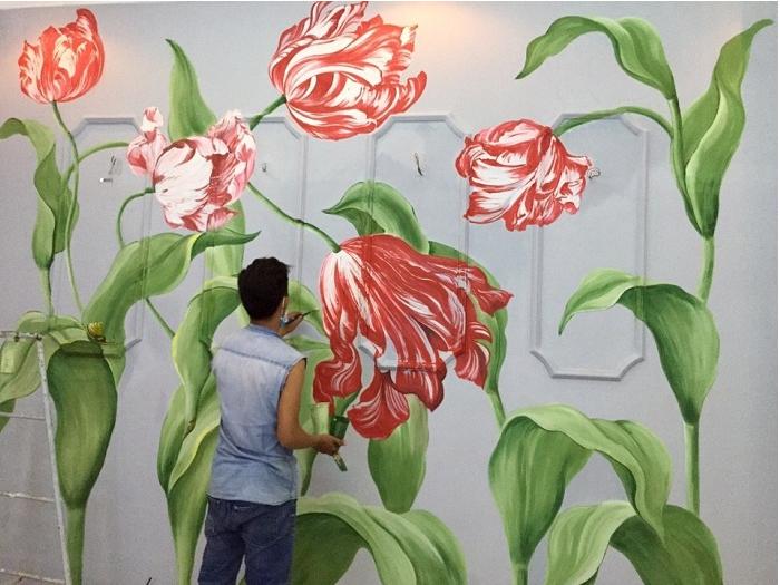 Nghệ thuật vẽ tranh tường.