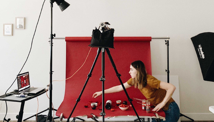 Setup bối cảnh chụp ảnh sản phẩm